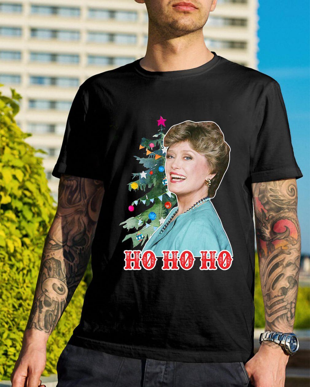 Rue McClanahan Ho Ho Ho Christmas Guys Shirt