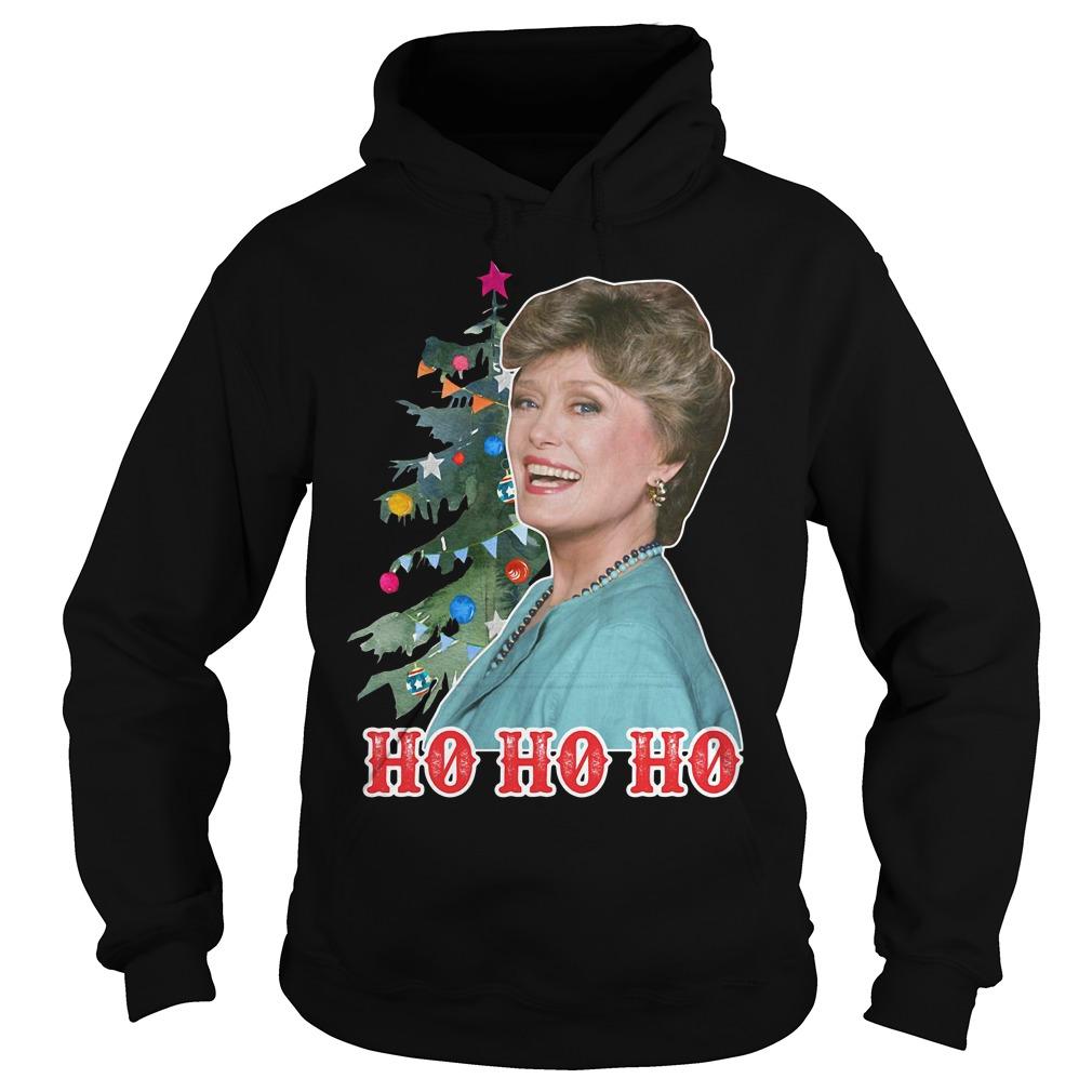 Rue McClanahan Ho Ho Ho Christmas Hoodie