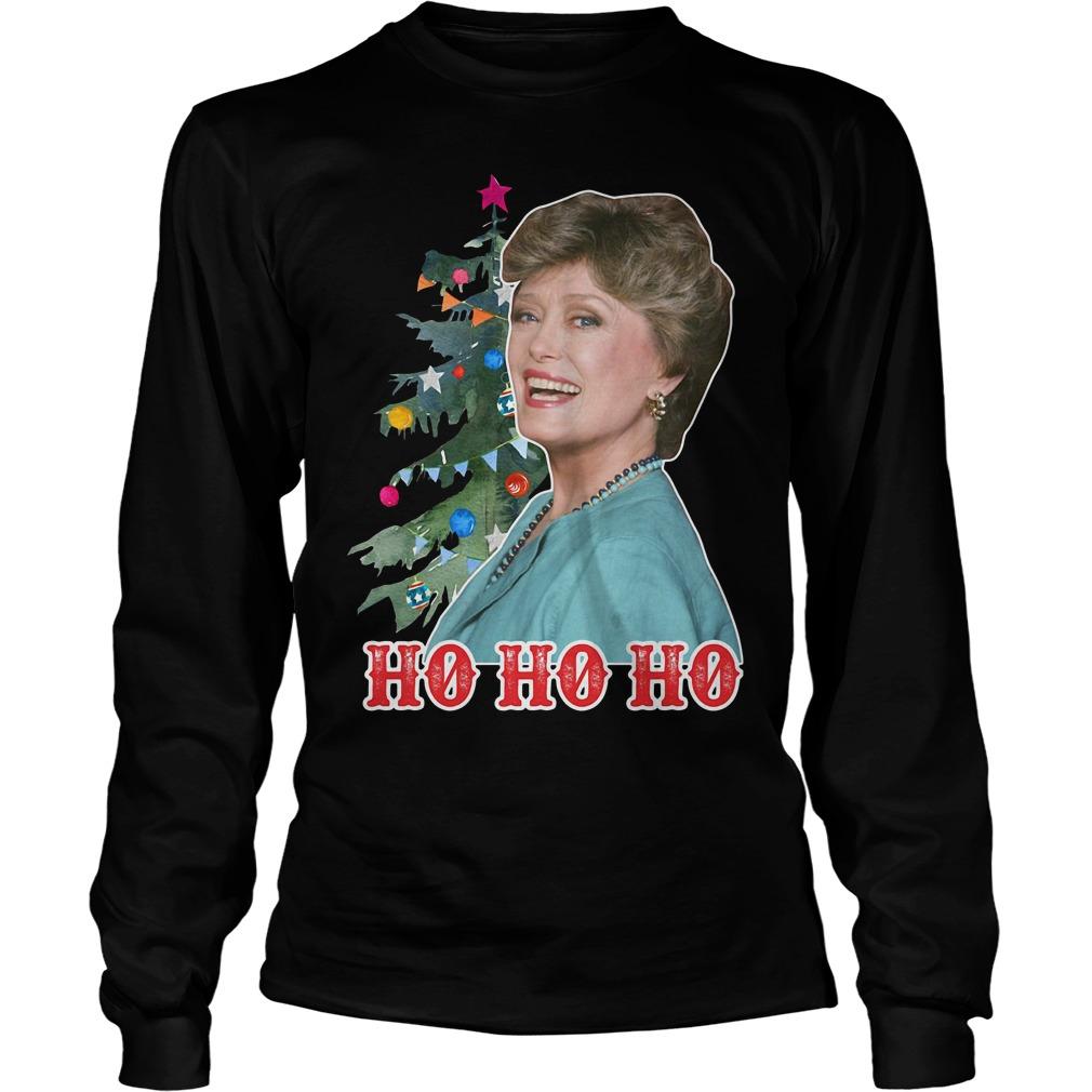 Rue McClanahan Ho Ho Ho Christmas Longsleeve Tee
