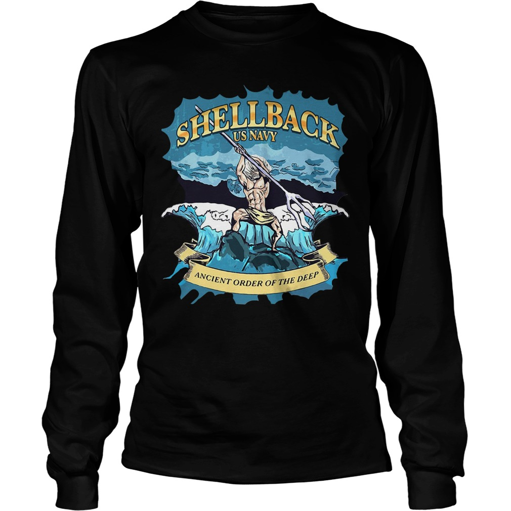 Shellback US Navy Ancient order of the deep Longsleeve Tee