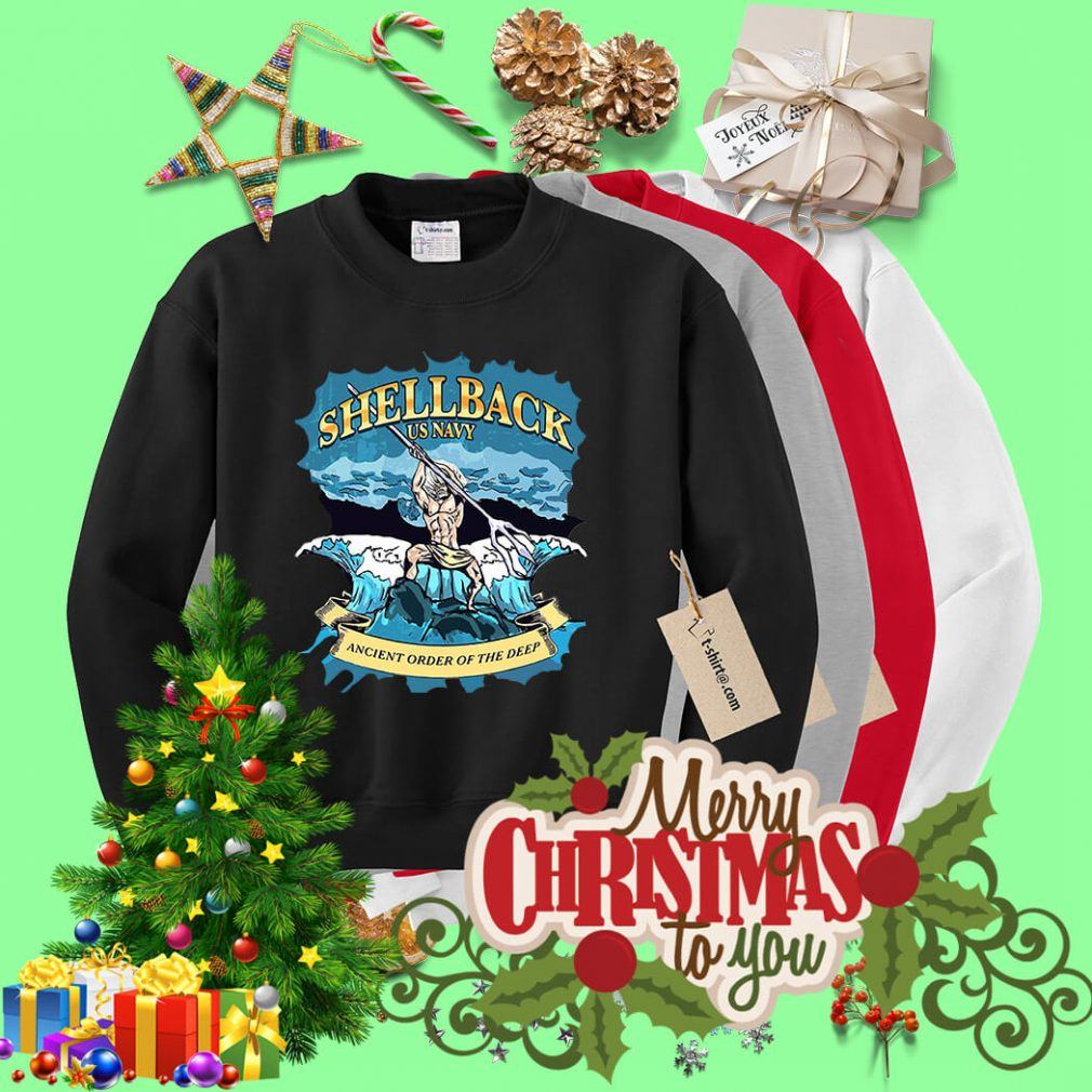 Shellback US Navy Ancient order of the deep Sweater