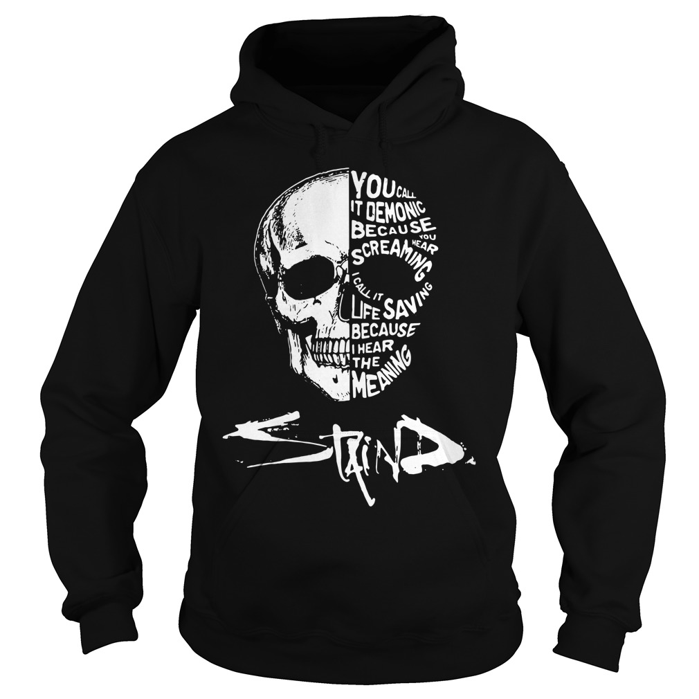 Skull you call it demonic because you hear the screaming Hoodie