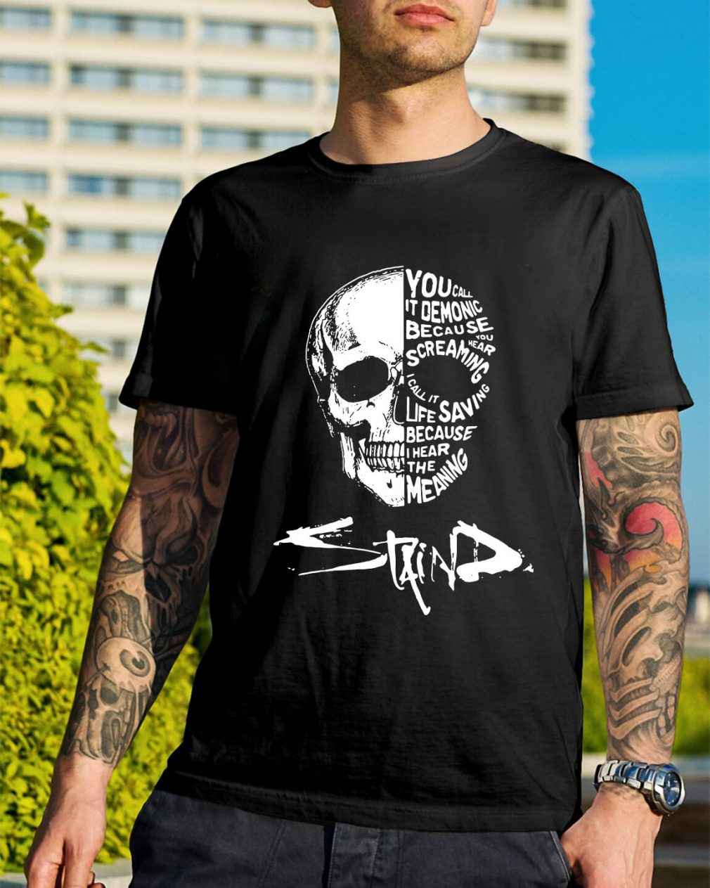 Skull you call it demonic because you hear the screaming shirt
