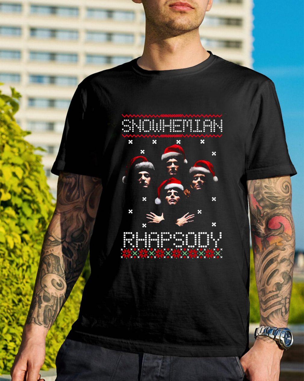 Snowhemian Rhapsody ugly Christmas Guys Shirt