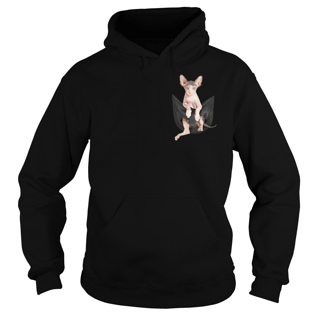 Sphynx cat breast pocket Hoodie
