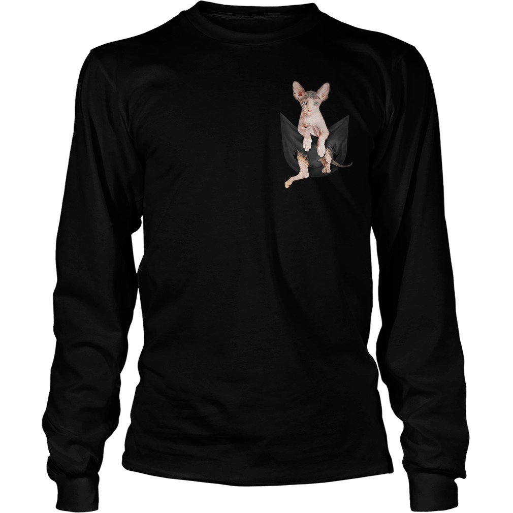 Sphynx cat breast pocket Longsleeve Tee