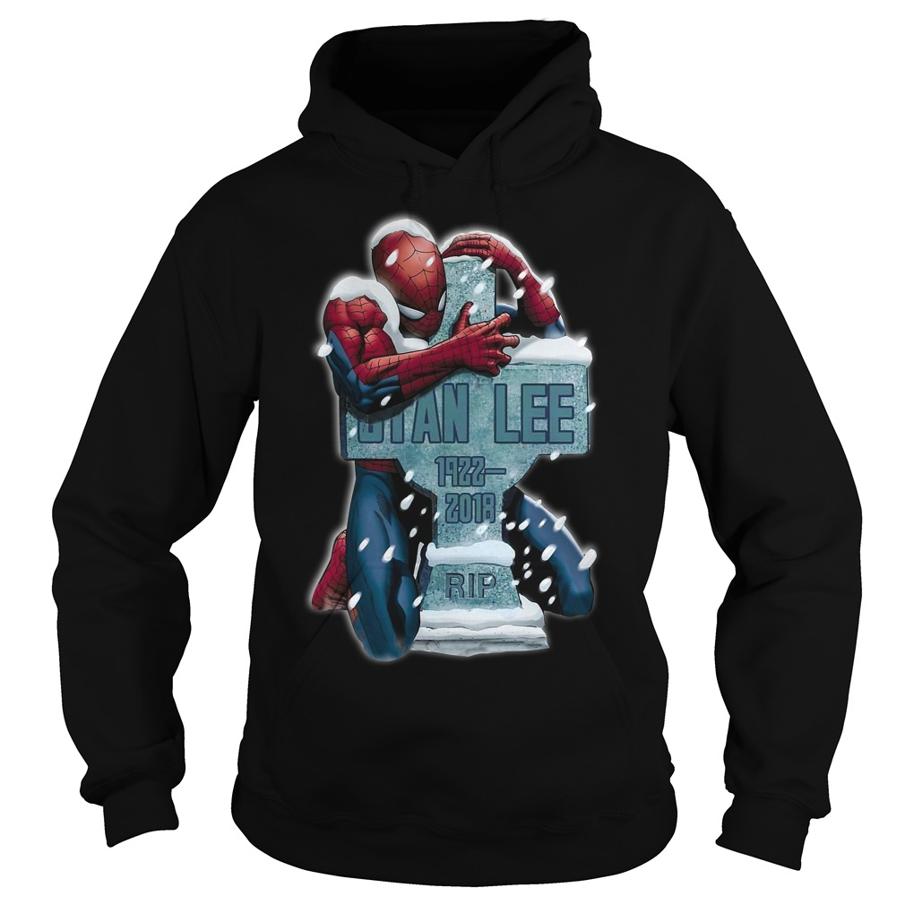 Spiderman hug grave Stan Lee 1922-2018 rip Hoodie
