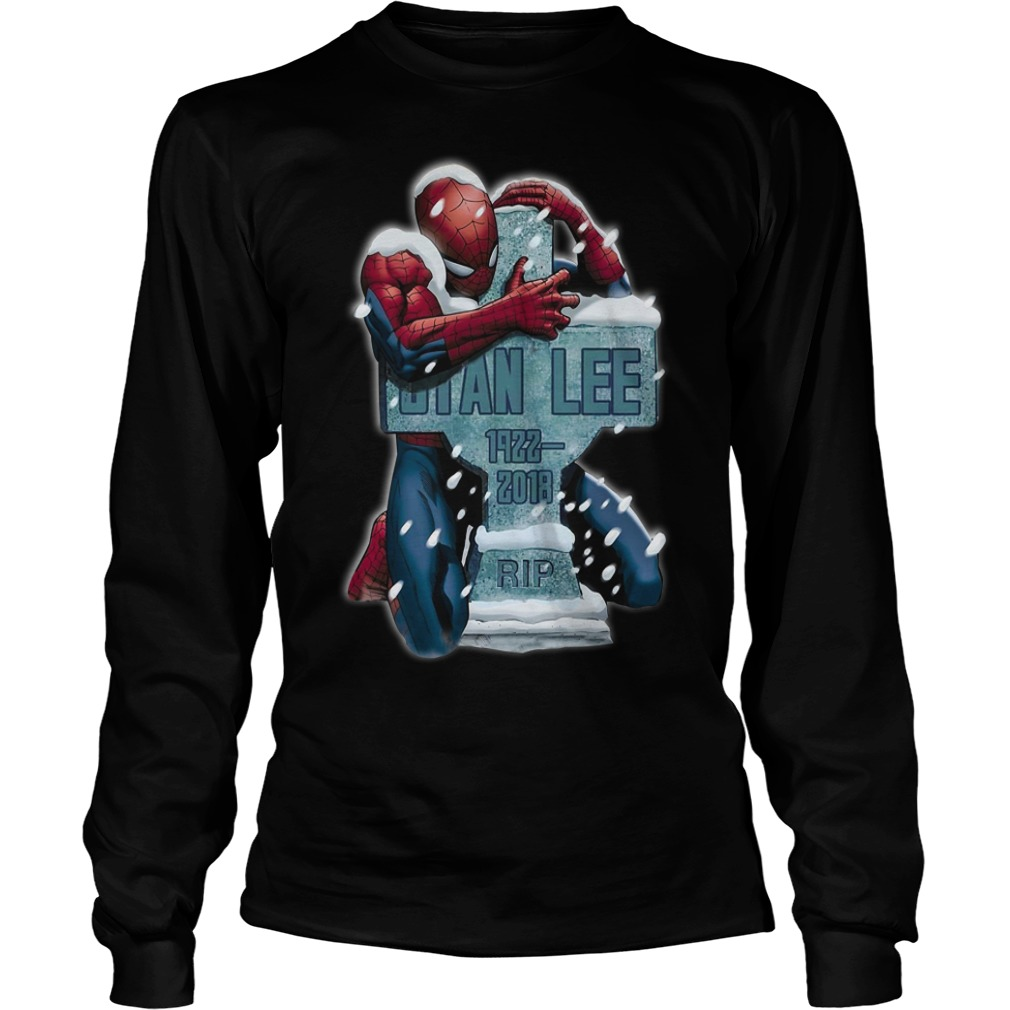 Spiderman hug grave Stan Lee 1922-2018 rip Longsleeve Tee