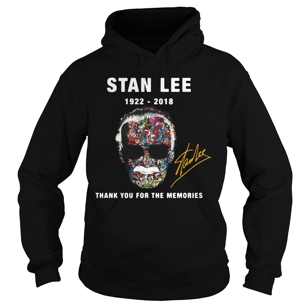 Stan Lee face Marvel 1922 – 2018 thank you for the memories Hoodie