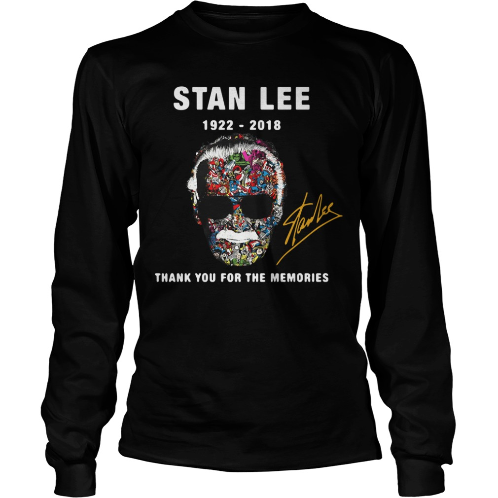 Stan Lee face Marvel 1922 – 2018 thank you for the memories Longsleeve Tee