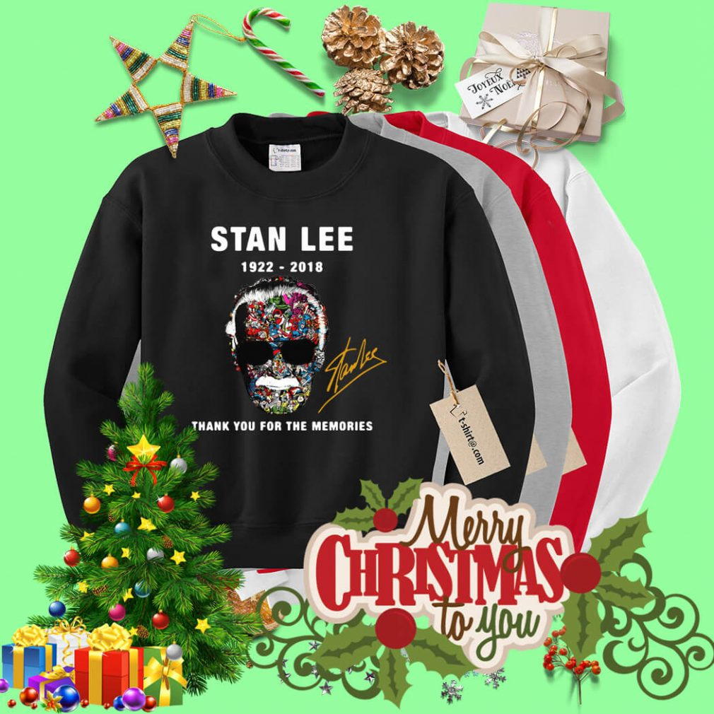 Stan Lee face Marvel 1922 – 2018 thank you for the memories Sweater