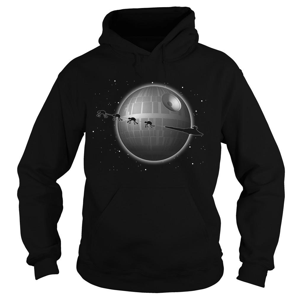 Star Wars Battlefront Star Destroyer and Death Star Hoodie