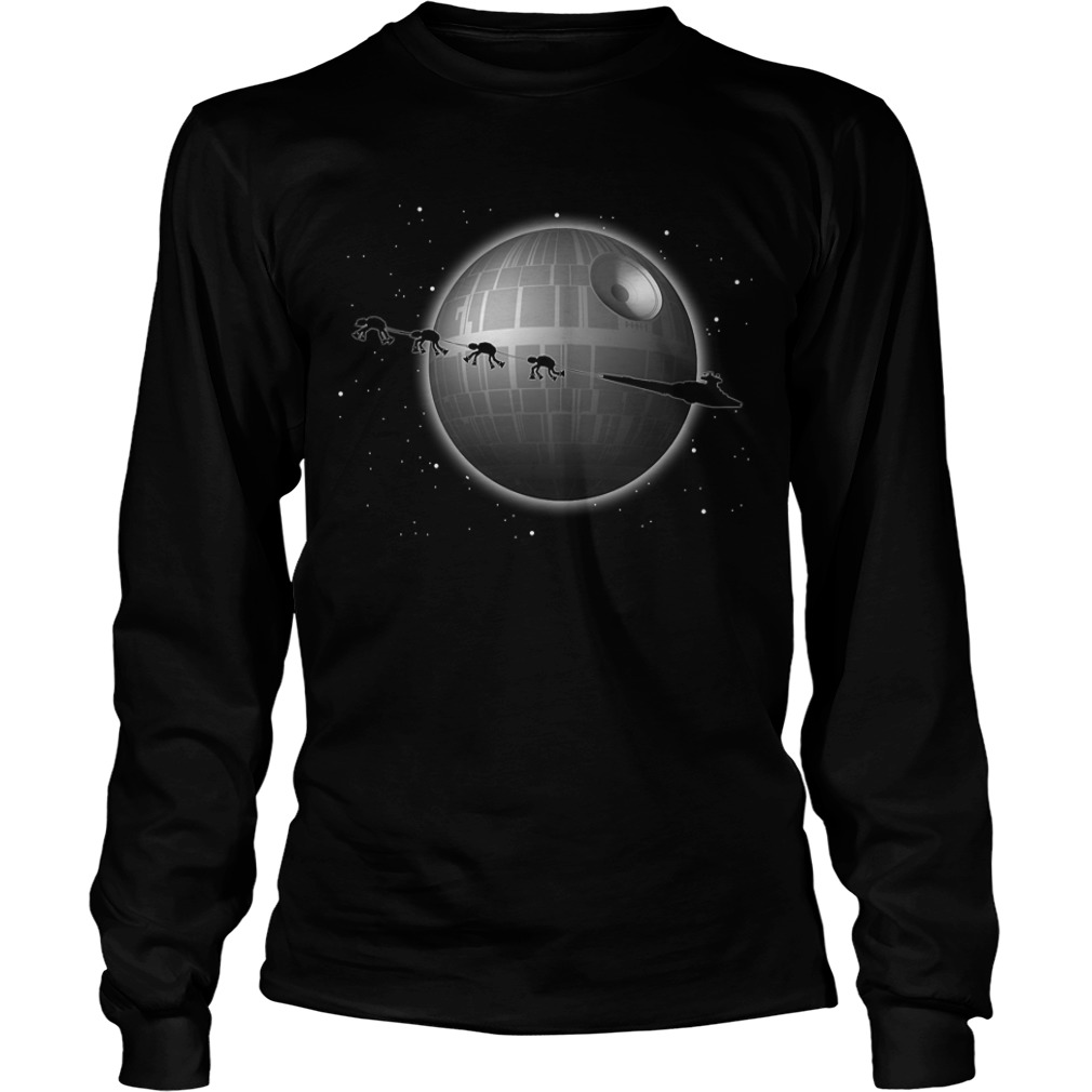 Star Wars Battlefront Star Destroyer and Death Star Longsleeve Tee
