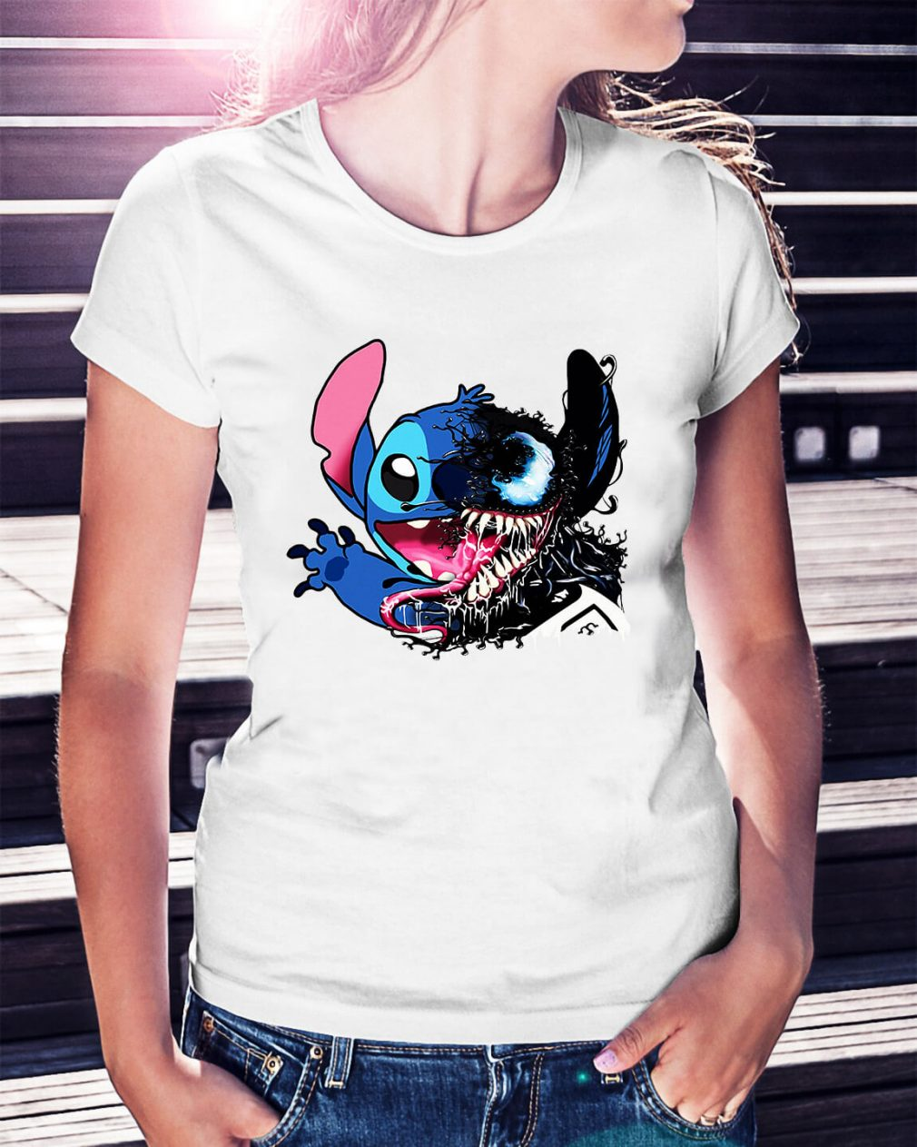 Stitch Venom we are Venom Ladies Tee