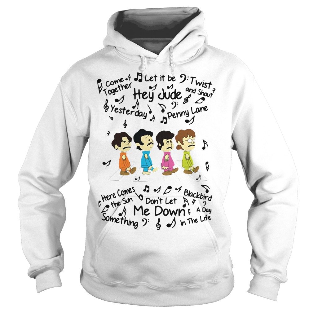 The Beatles come together let it be twist and shout Hoodie