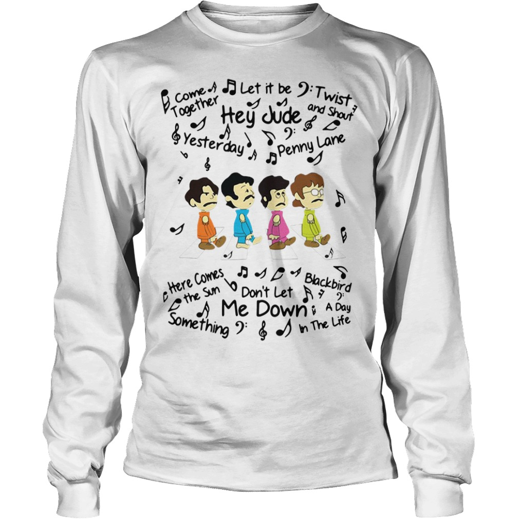 The Beatles come together let it be twist and shout Longsleeve Tee
