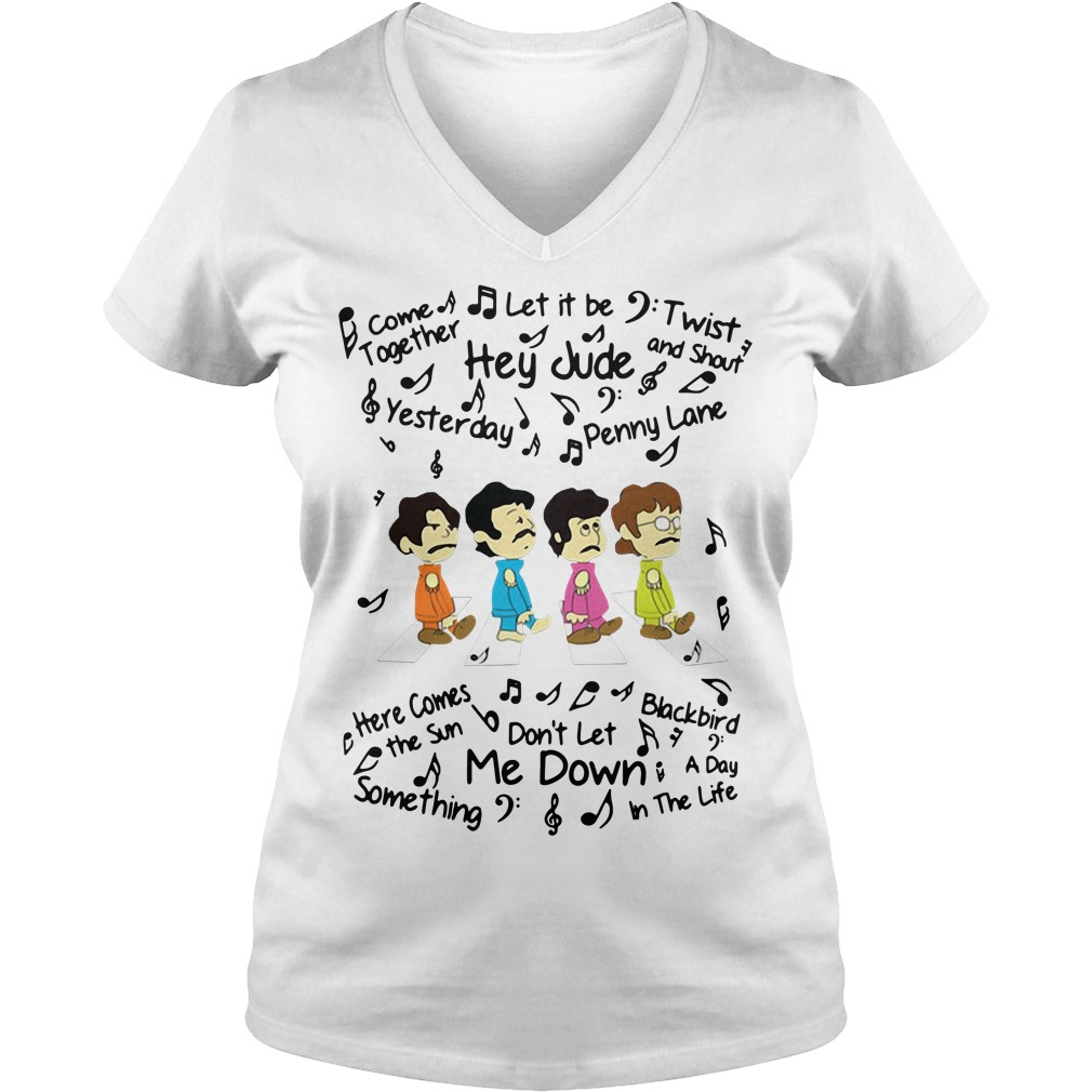 The Beatles come together let it be twist and shout V-neck T-shirt
