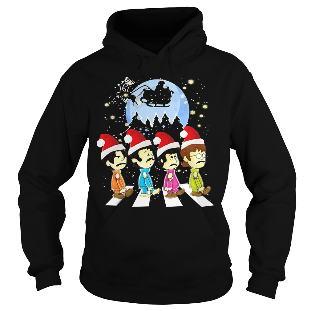 The Beatles crossing street Christmas Hoodie
