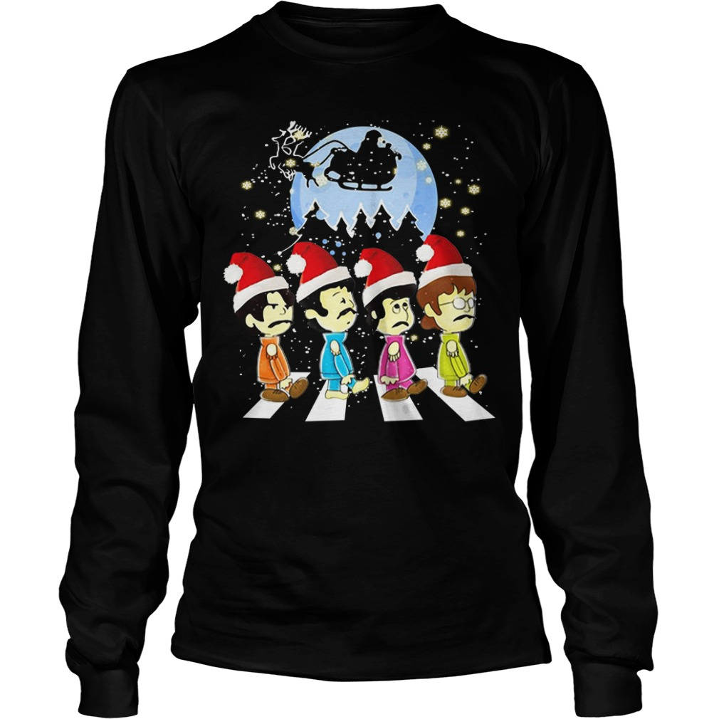The Beatles crossing street Christmas Longsleeve Tee