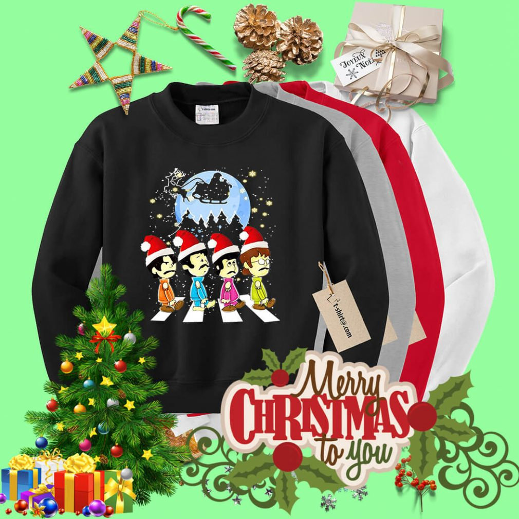 The Beatles crossing street Christmas shirt, sweater