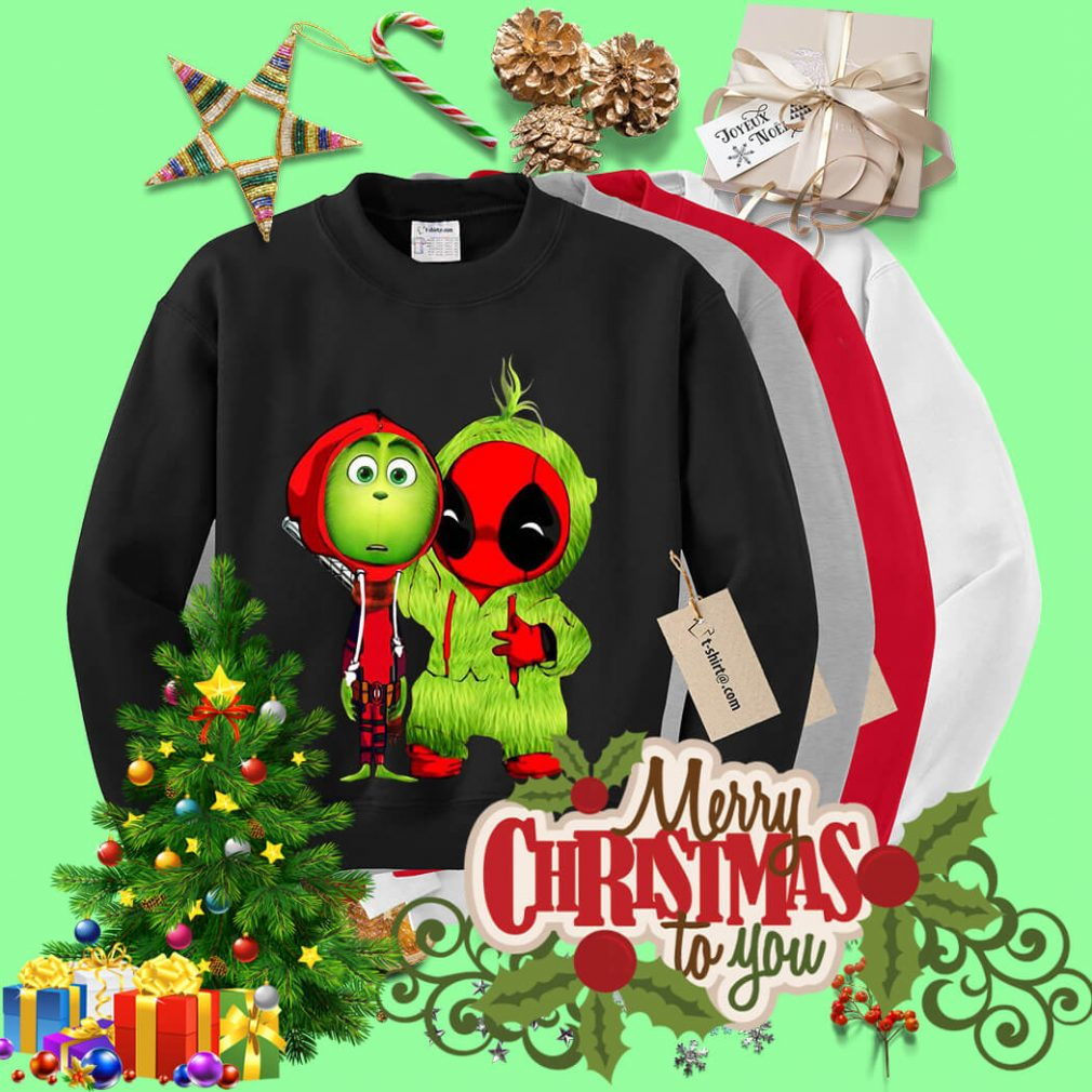 The Grinch and Deadpool baby Christmas shirt, sweater