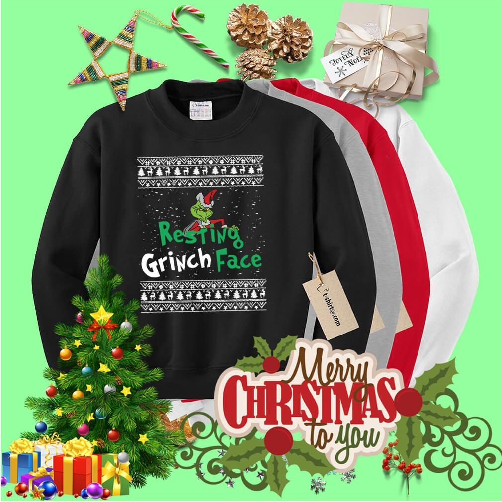 The Grinch resting Grinch face Christmas shirt, sweater