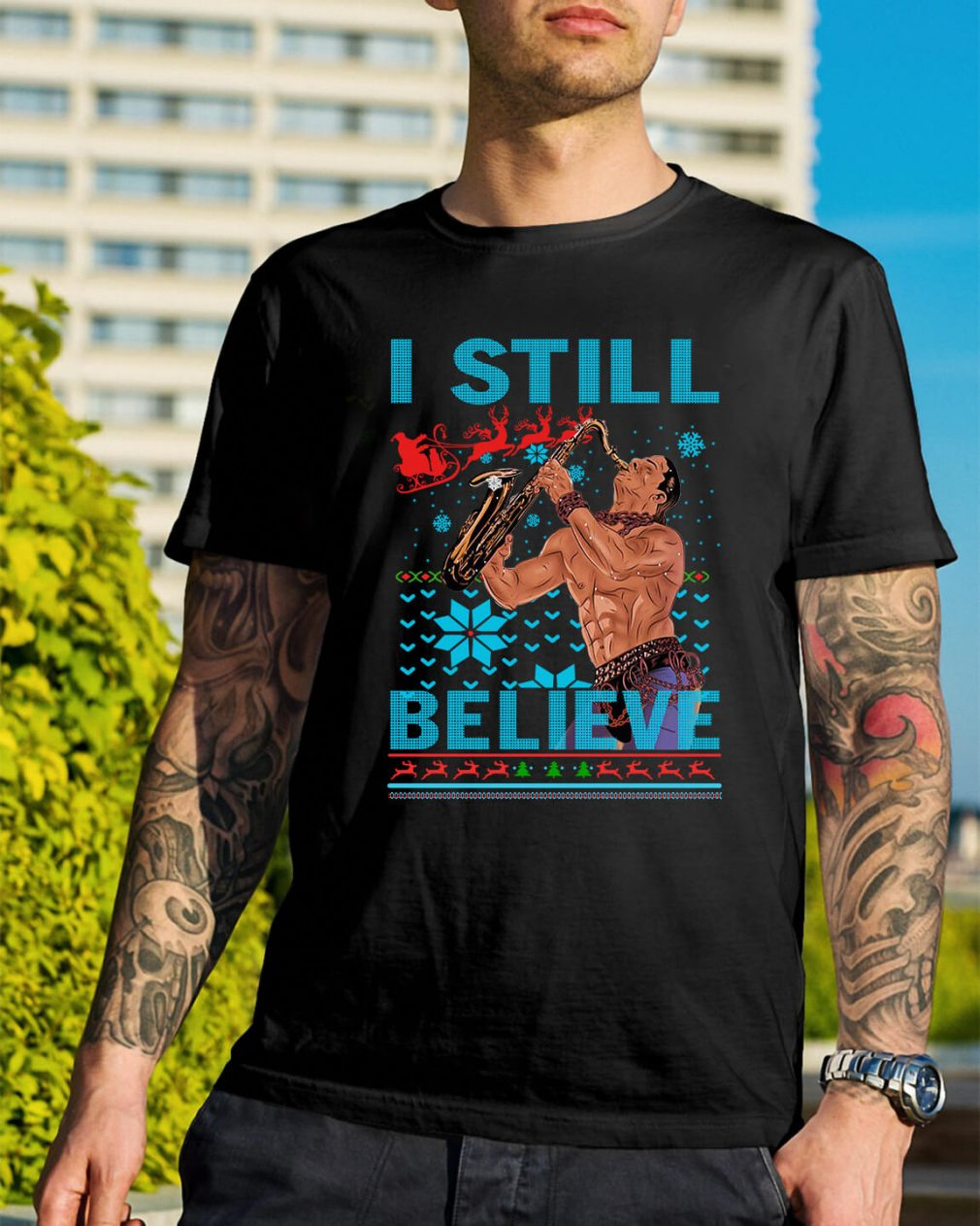 The Lost Boys I still believe ugly Christmas Guys Shirt