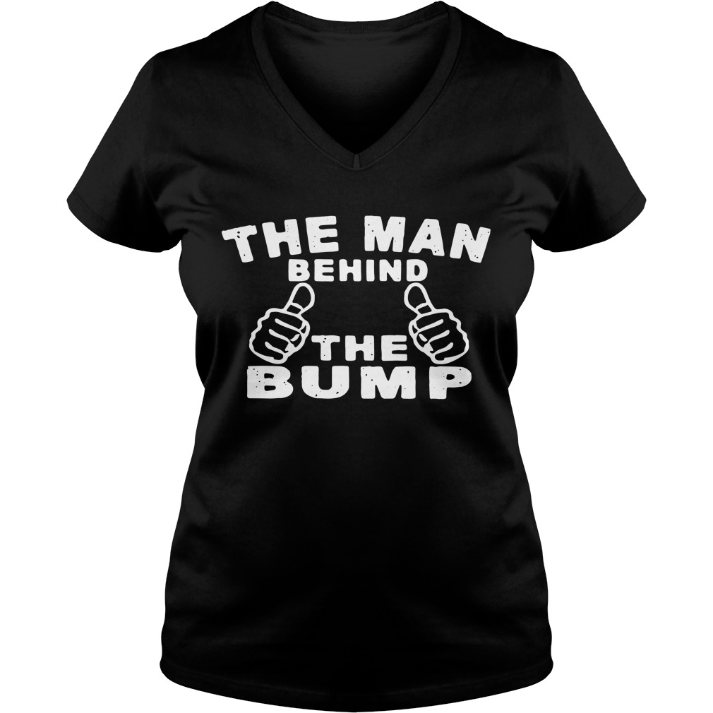 The man behind the bump V-neck T-shirt