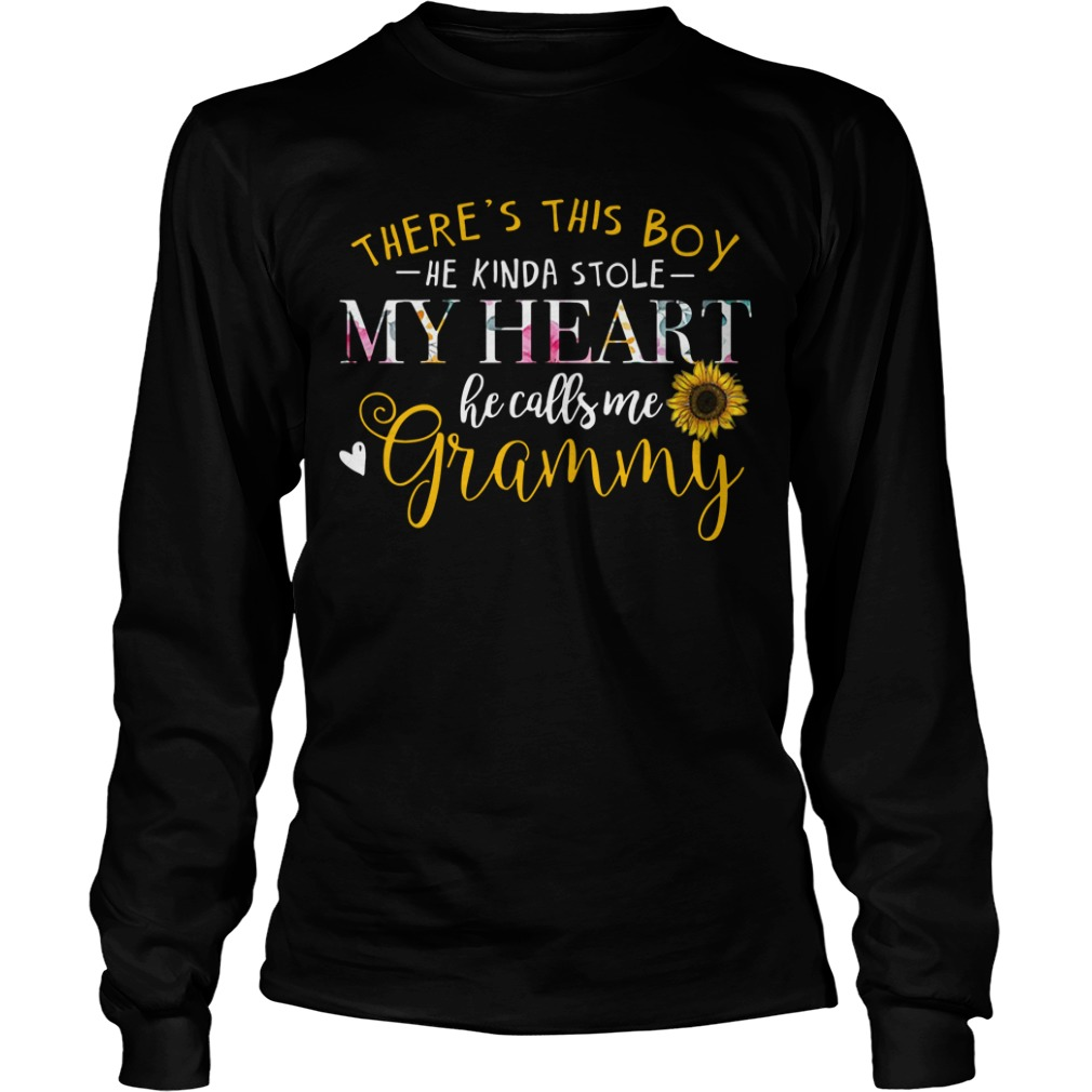 There's this boy he kinda stole my heart he calls me grammy Longsleeve Tee