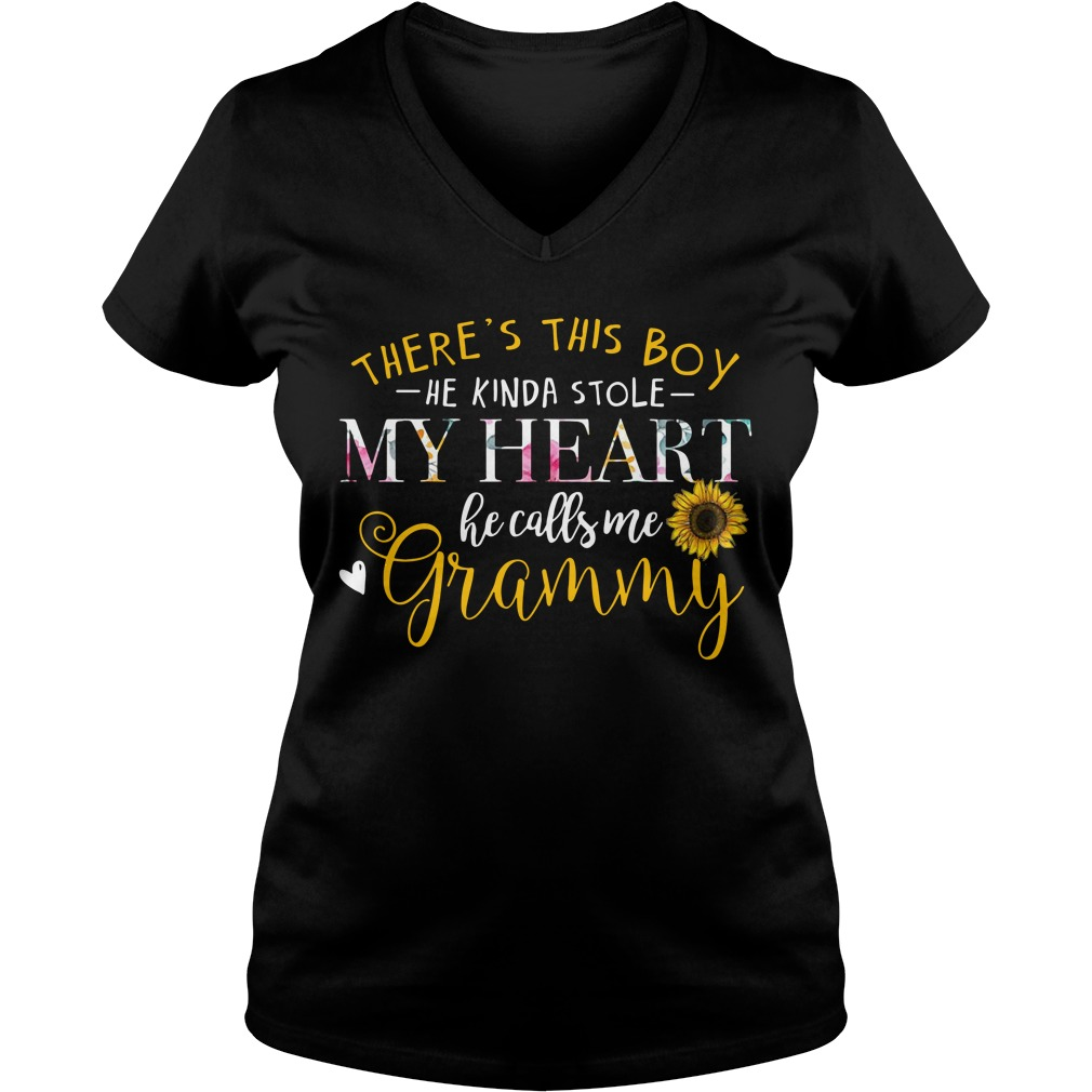 There's this boy he kinda stole my heart he calls me grammy V-neck T-shirt