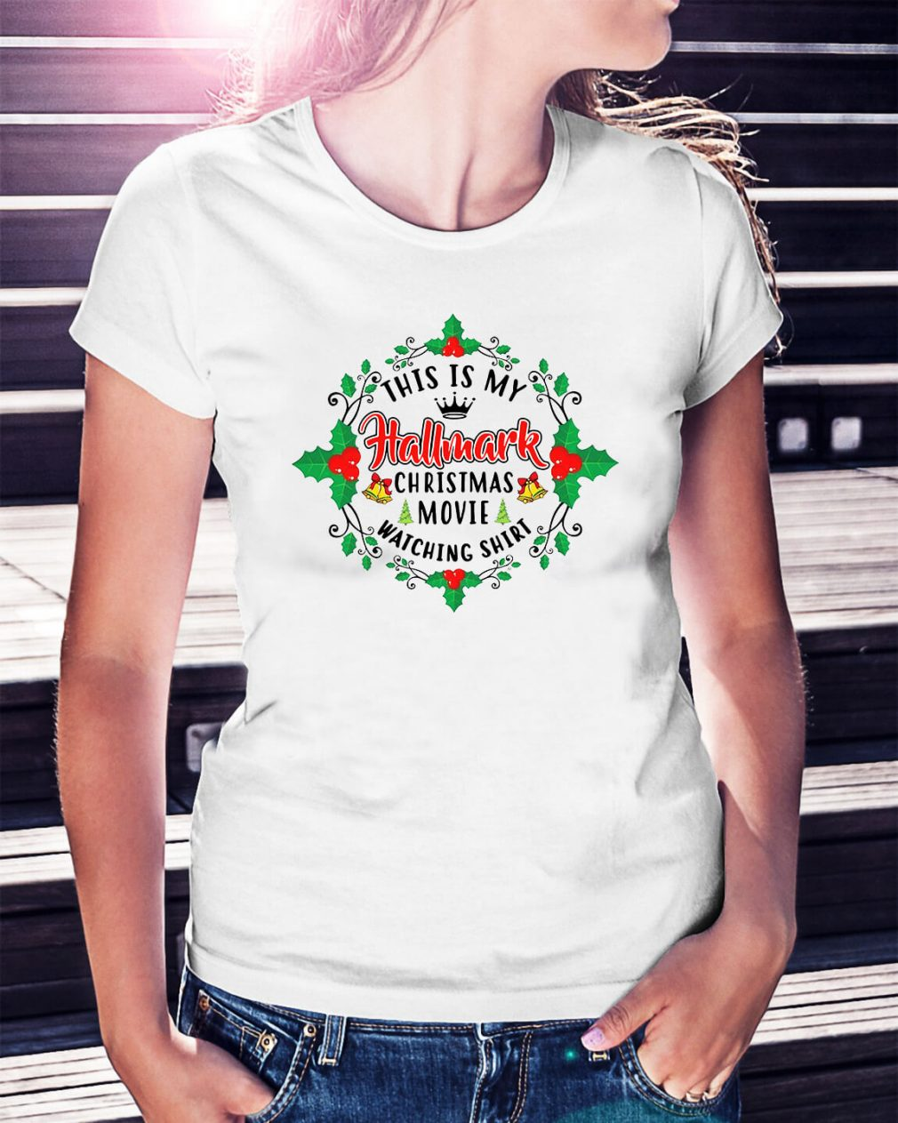 This is my Hallmark Christmas movie Happy New Year Ladies Tee