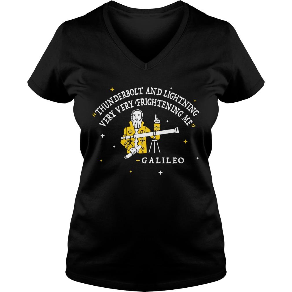Thunderbolt and lightning very very frightening me Galileo V-neck T-shirt