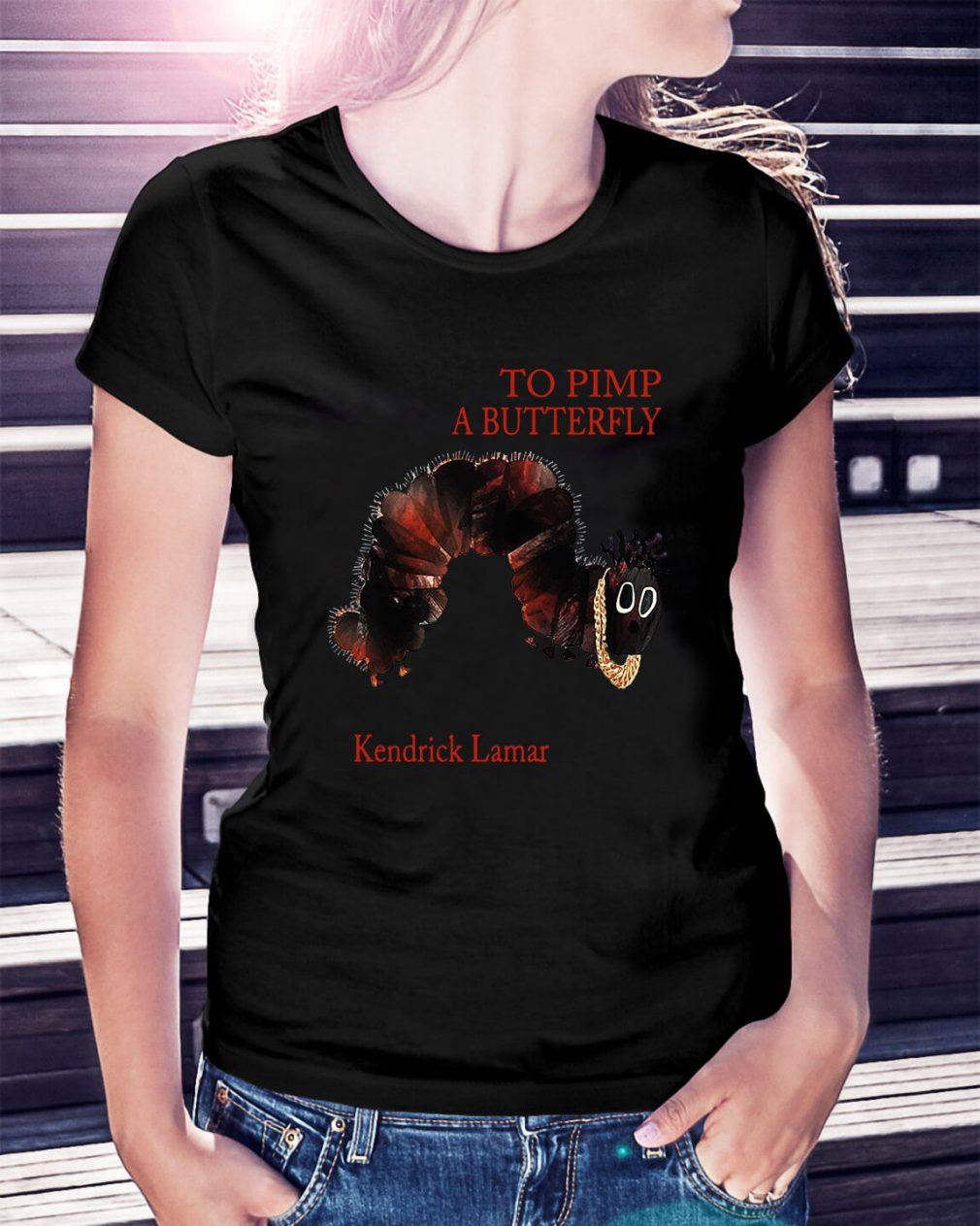 To pimp a butterfly Kendrick Lamar Ladies Tee