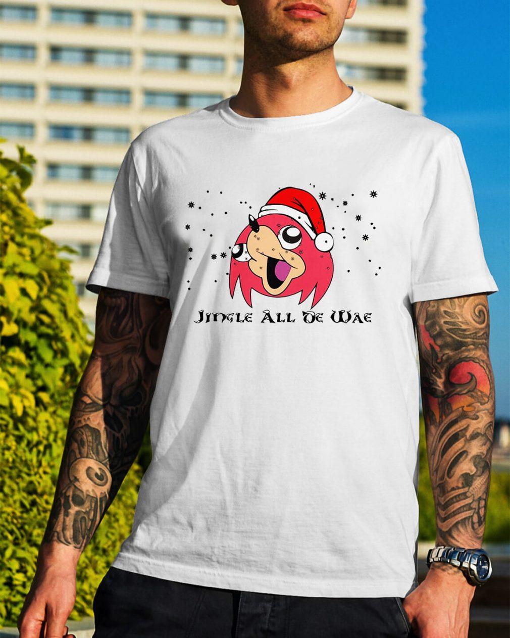 Uganda Knuckles Jingle all oe wae Christmas Guys Shirt