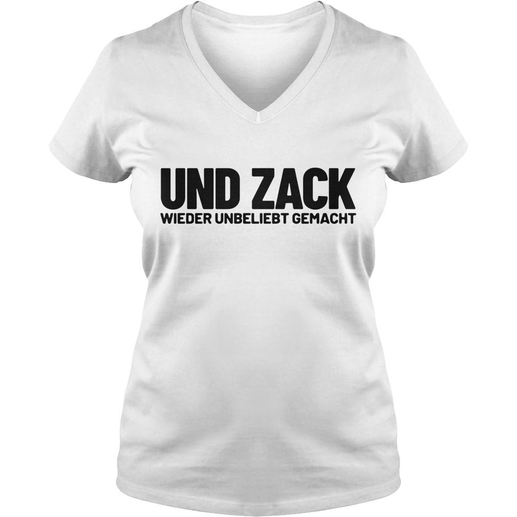 Und zack wieder unbeliebt gemacht V-neck T-shirt