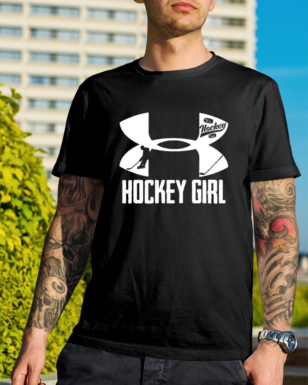 Under Armour hockey girl shirt