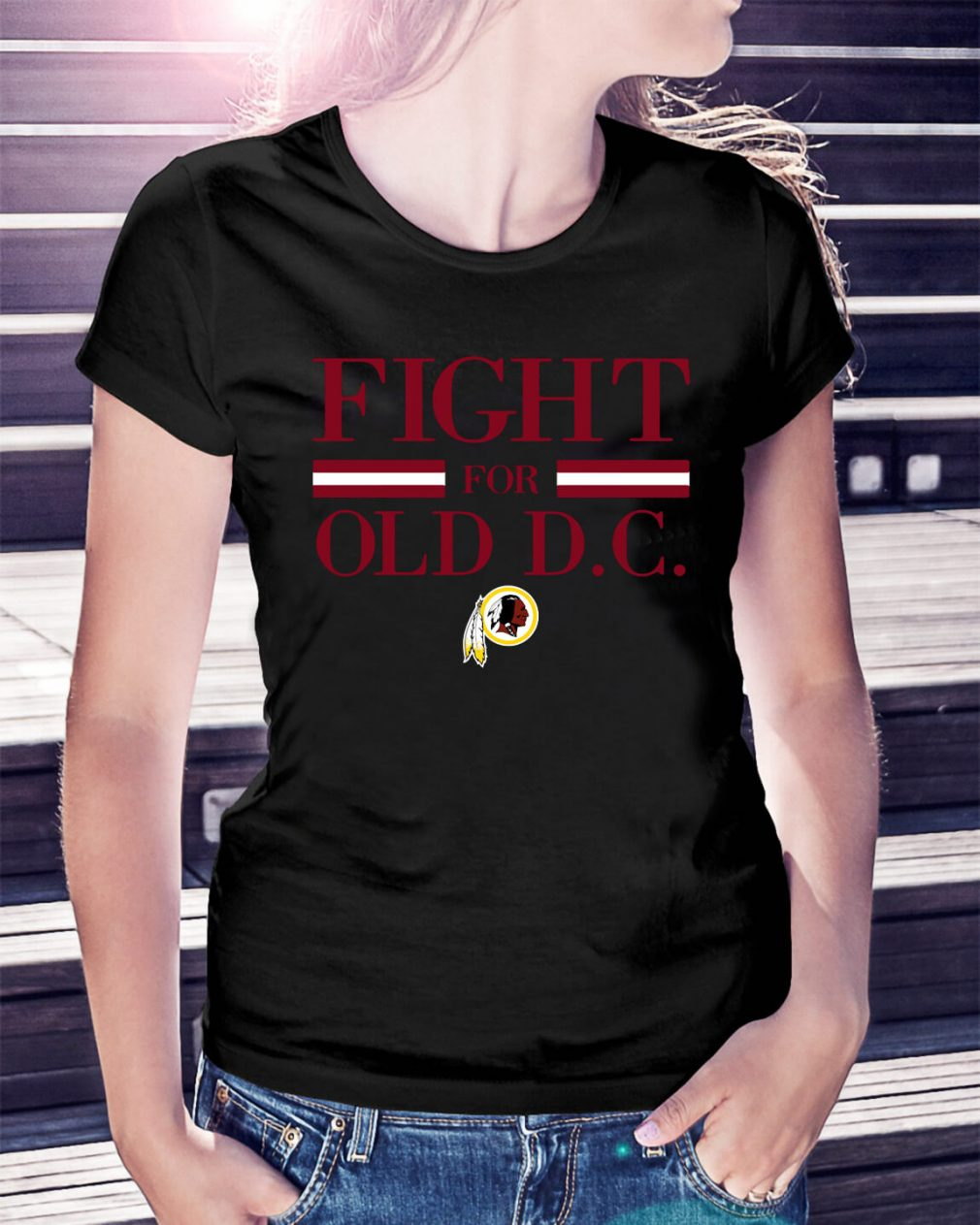 Washington Redskins fight for old DC Ladies Tee