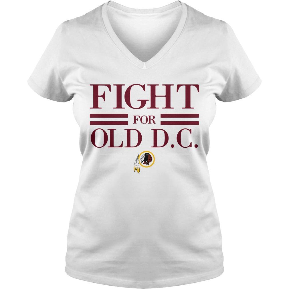 Washington Redskins fight for old DC V-neck T-shirt