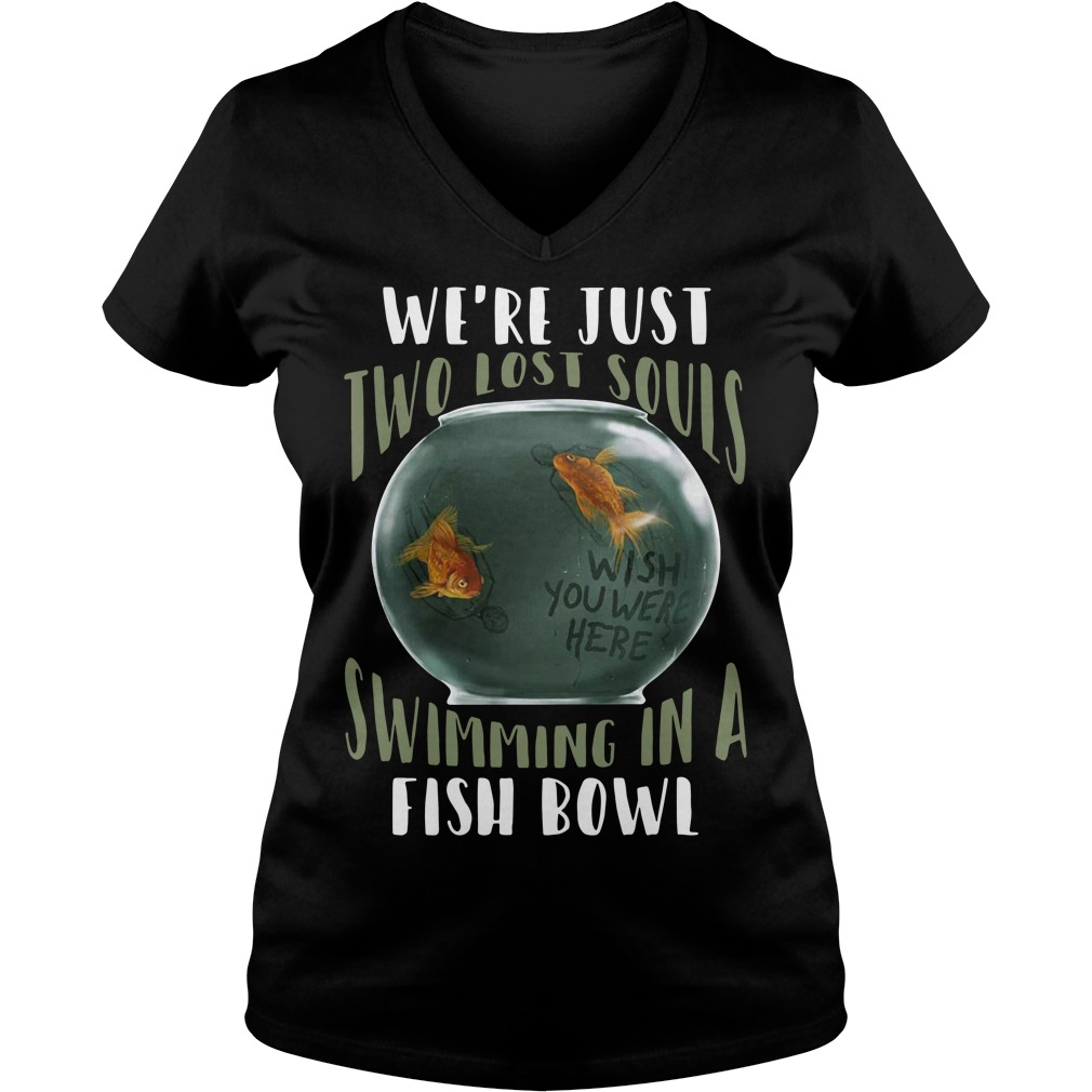 We're just two lost souls swimming in a fishbowl V-neck T-shirt