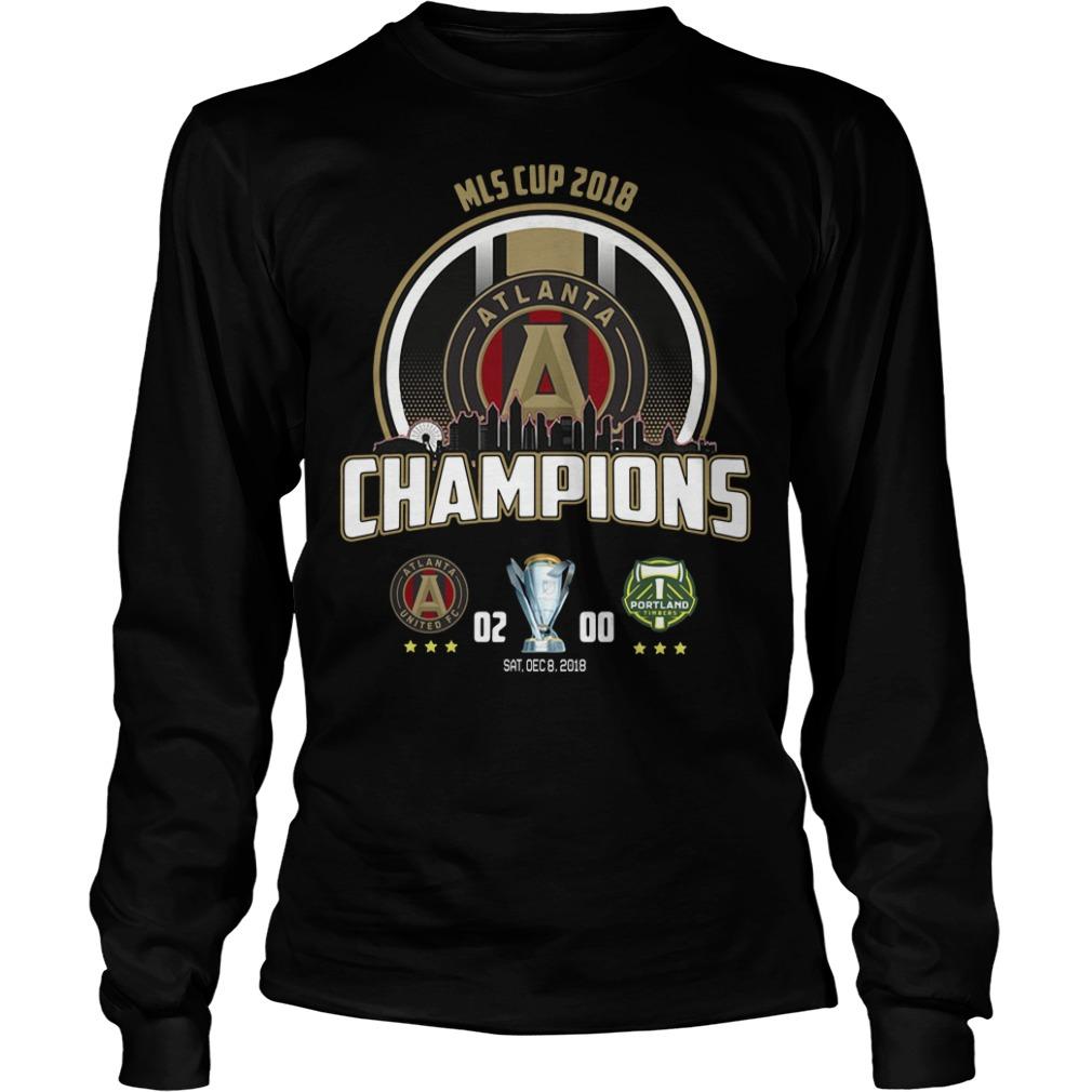 2018 MLS Cup Atlanta united championship Longsleeve Tee