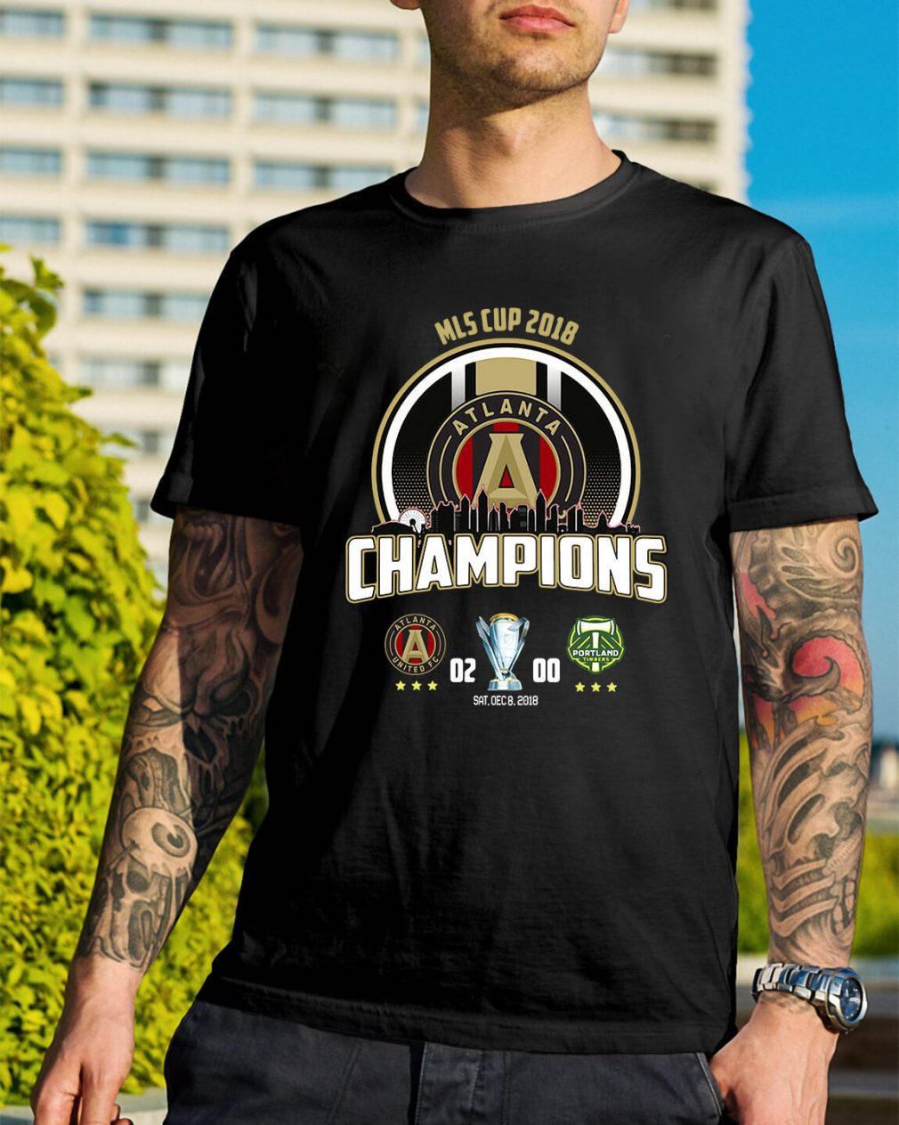 2018 MLS Cup Atlanta united championship shirt