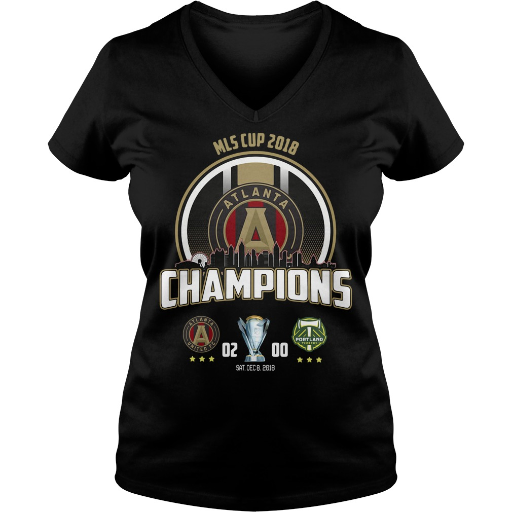 2018 MLS Cup Atlanta united championship V-neck T-shirt