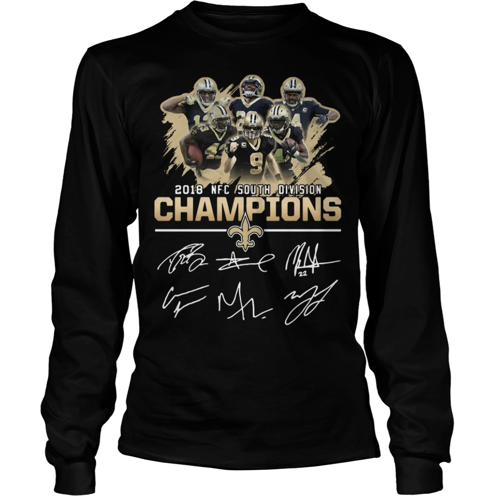 2018 NFC south division champions New Orleans Saints Longsleeve Tee