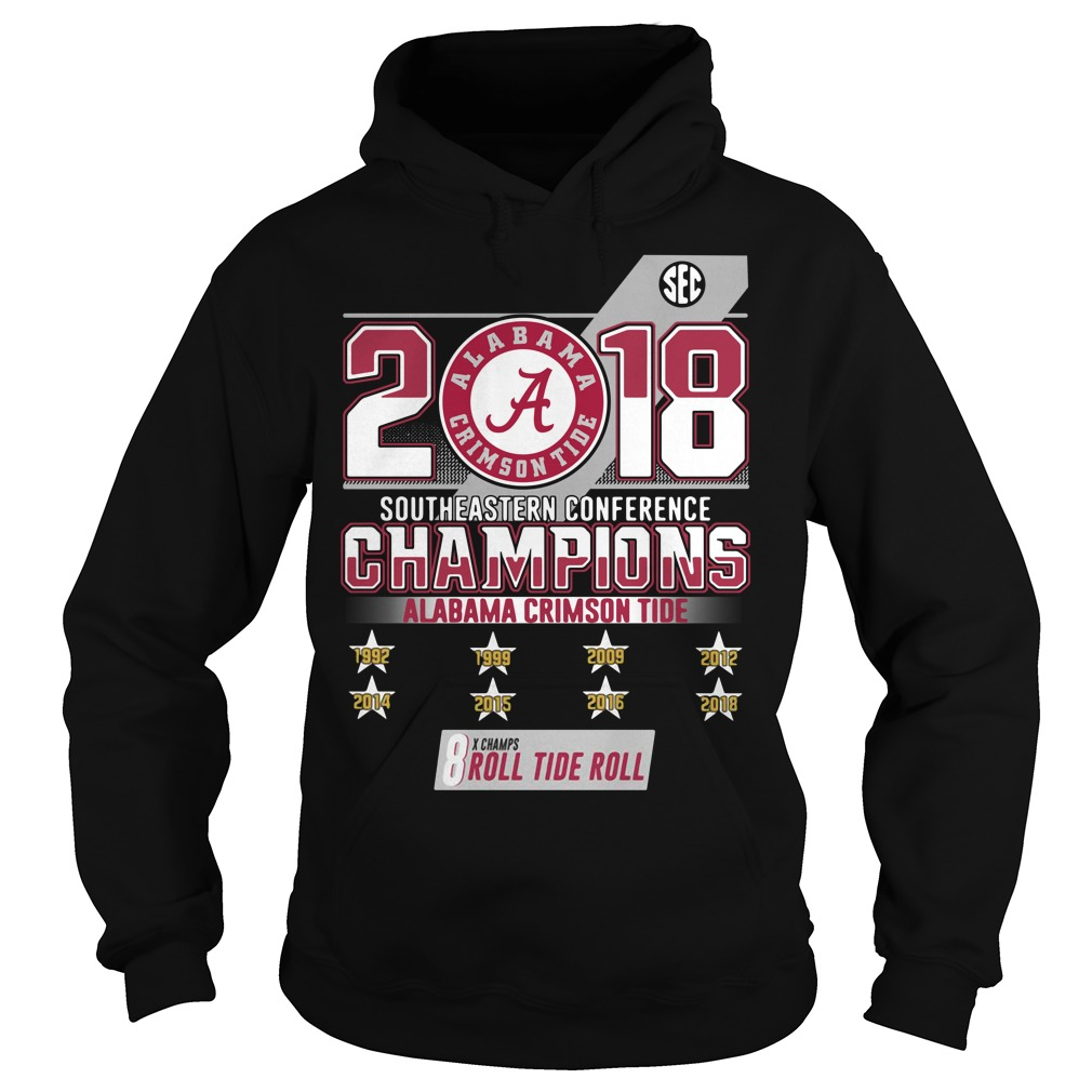 2018 Southeastern conference champions Alabama Crimson Tide Hoodie
