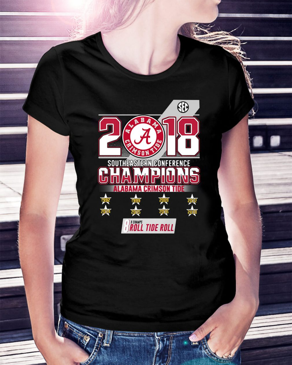 2018 Southeastern conference champions Alabama Crimson Tide Ladies Tee