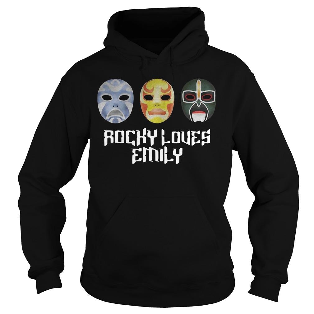 3 Ninjas Rocky loves Emily masks Hoodie