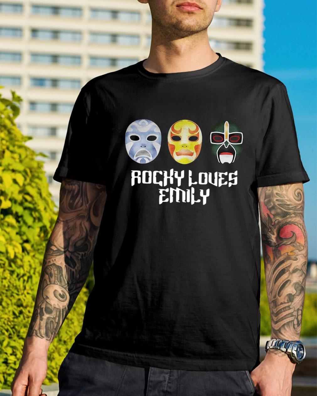 3 Ninjas Rocky loves Emily masks shirt