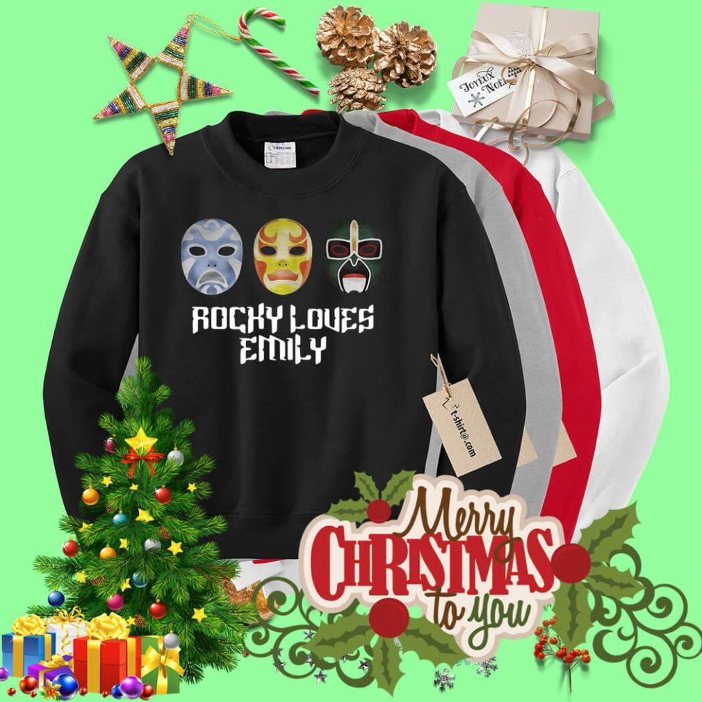 3 Ninjas Rocky loves Emily masks Sweater