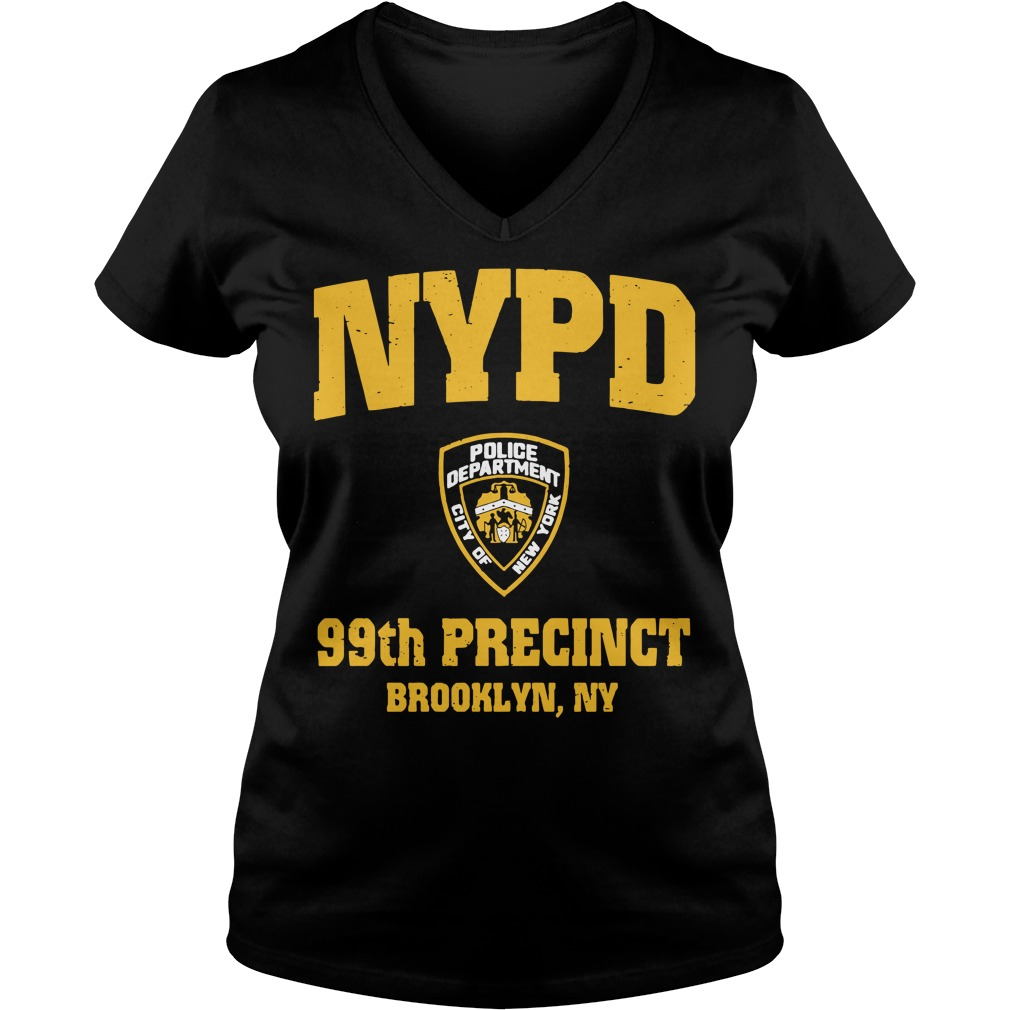 99th Precinct Brooklyn NY Police Department NYPD V-neck T-shirt