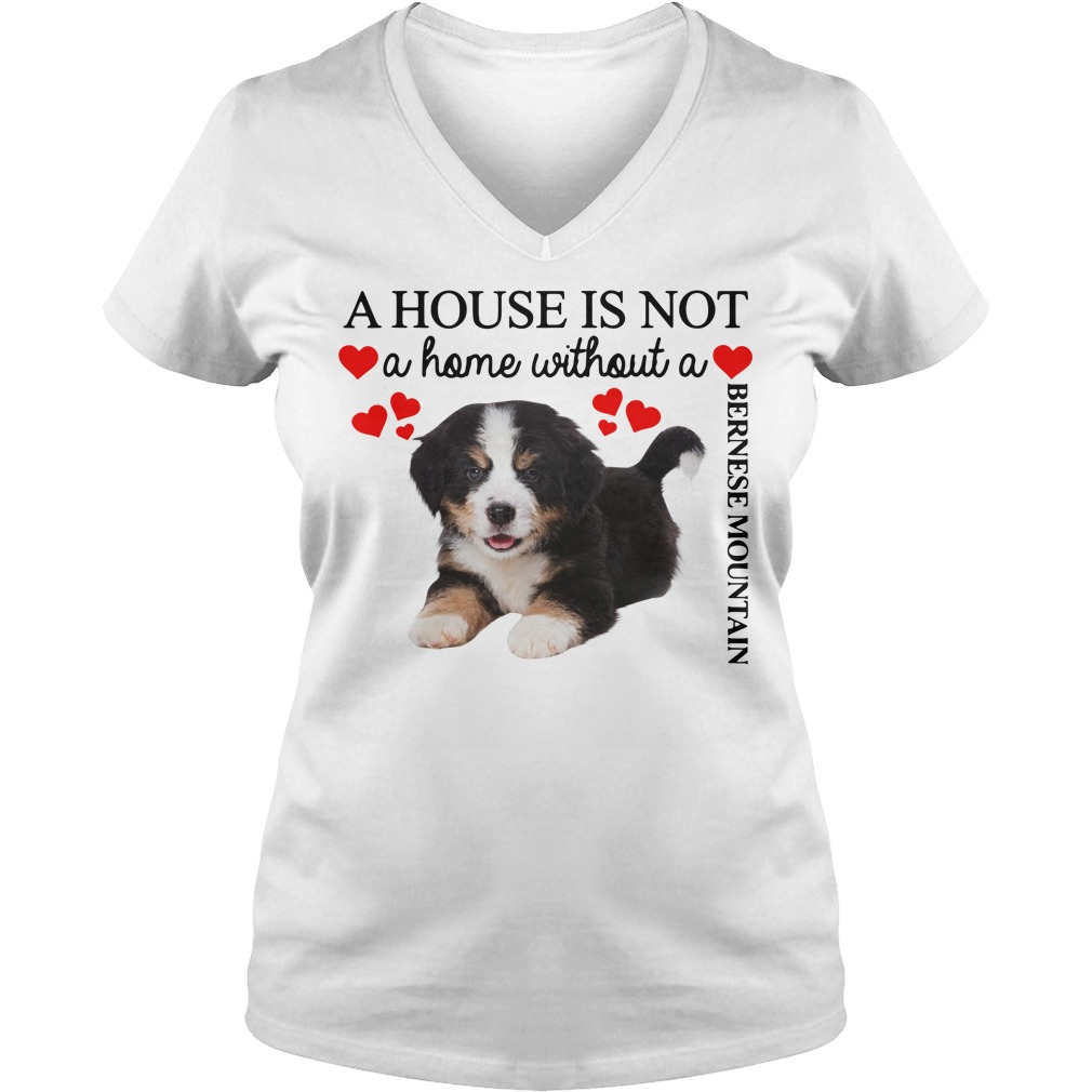 A house is not a home without a Bernese Mountain V-neck T-shirt